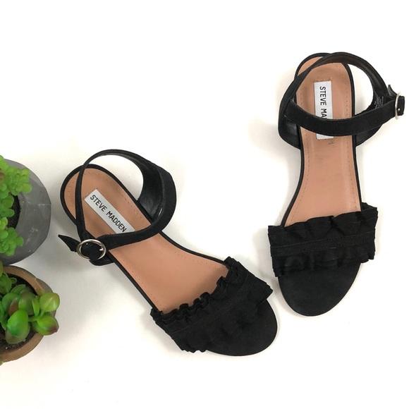 2f1923a315df Steve Madden Brett black leather sandals. M 5b3ce27712cd4ab515a95845